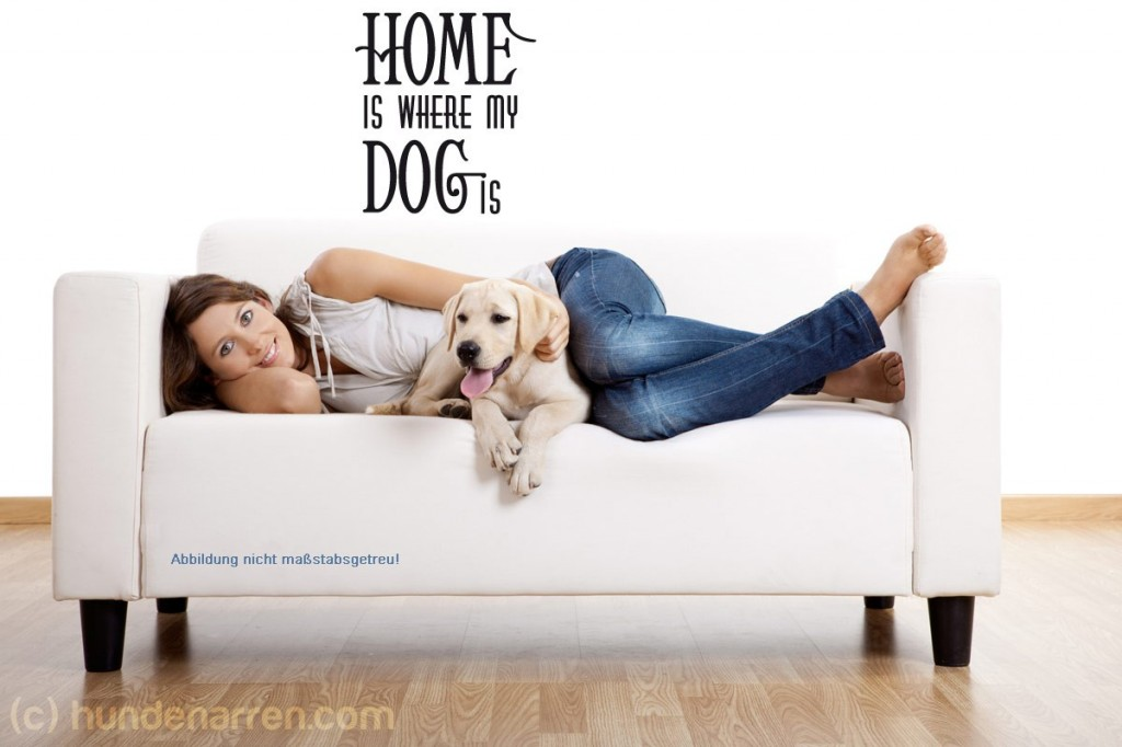 Wandtattoo_Home-is-where-my-Dog-is-1